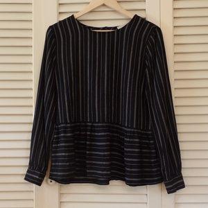 Loft Peplum Dress Shirt Medium